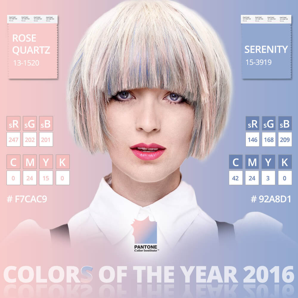 Color Of The Year 2016: Rose Quartz & Serenity Colors In Use