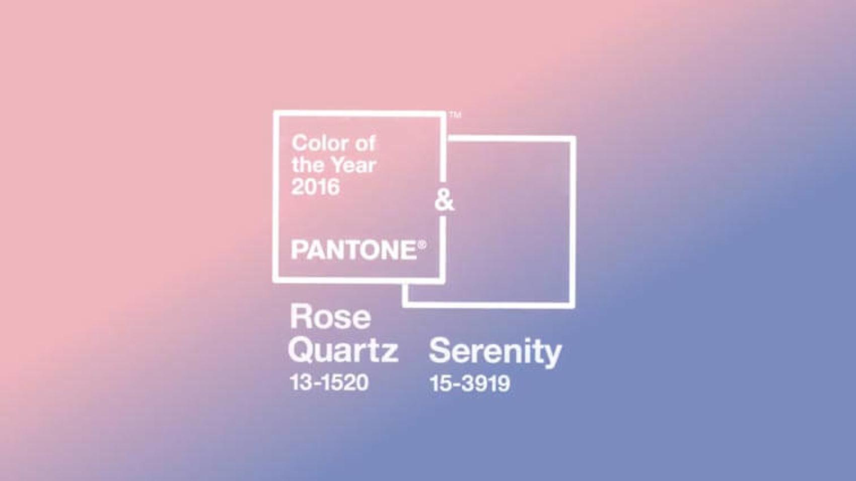 Rose Quartz & Serenity — PANTONE Colors of the Year 2016